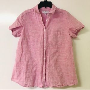 Women's S Kim Rogers Pink Button Up
